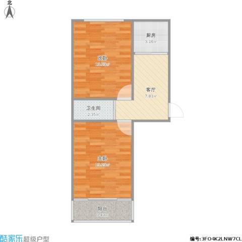 居安里2室1厅1卫1厨59.00㎡户型图