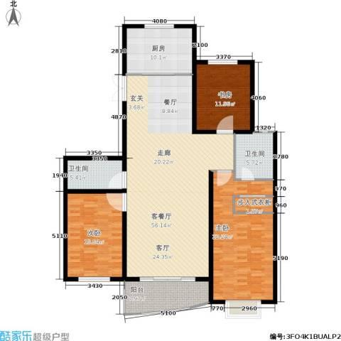 帝景豪庭3室1厅2卫1厨190.00㎡户型图
