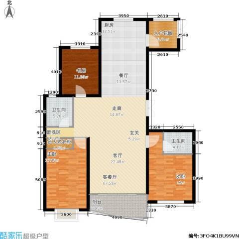 帝景豪庭3室1厅2卫0厨189.00㎡户型图