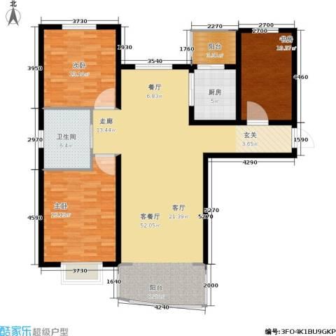 帝景豪庭3室1厅1卫1厨148.00㎡户型图