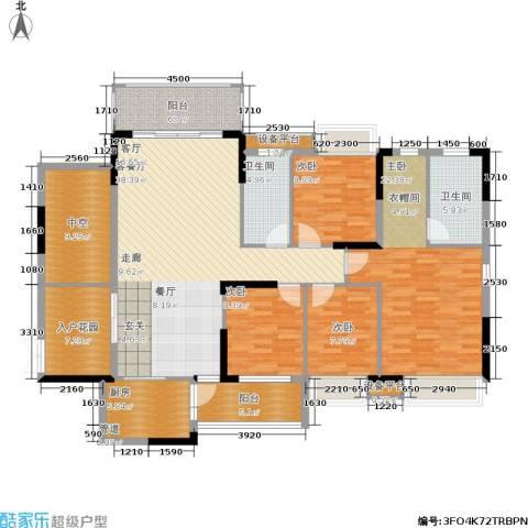 惠州半山名苑4室1厅2卫1厨140.00㎡户型图