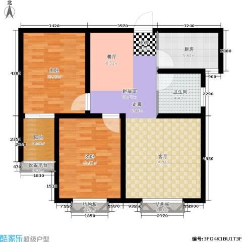名基凤凰城2室0厅1卫1厨88.00㎡户型图