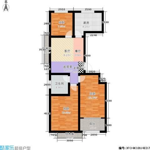 名基凤凰城3室0厅1卫1厨92.00㎡户型图