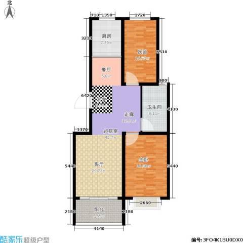 天筑新都花园2室0厅1卫1厨138.00㎡户型图