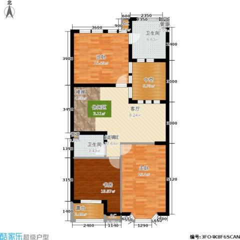 世爵源墅3室0厅2卫0厨121.00㎡户型图