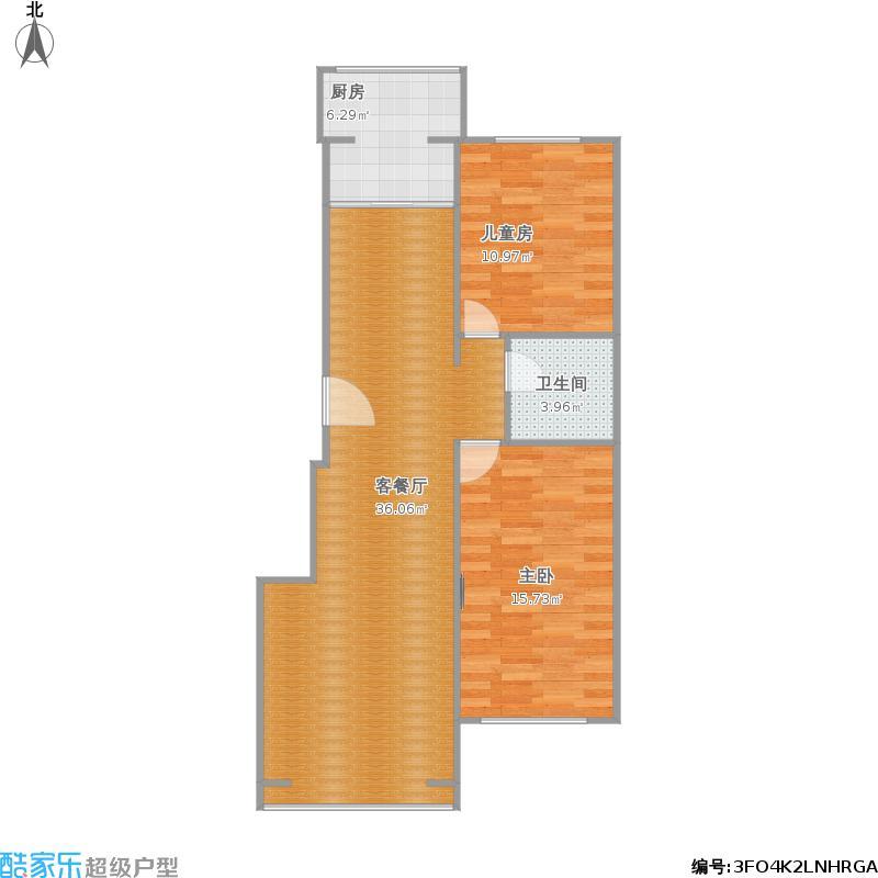 108平两室两厅