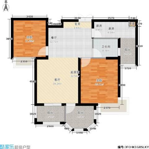 帝奥世伦名郡2室0厅1卫1厨97.00㎡户型图