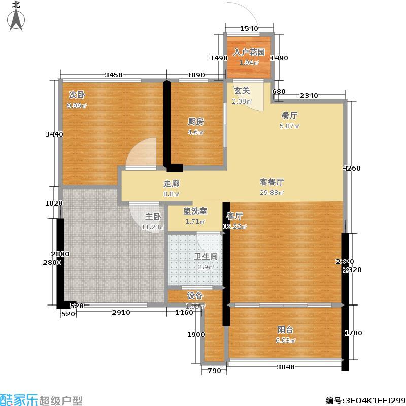 新力愉景湾75.00㎡一期6#高层电梯房B2户型