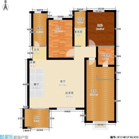 万润一品苑3室0厅2卫1厨136.00㎡户型图