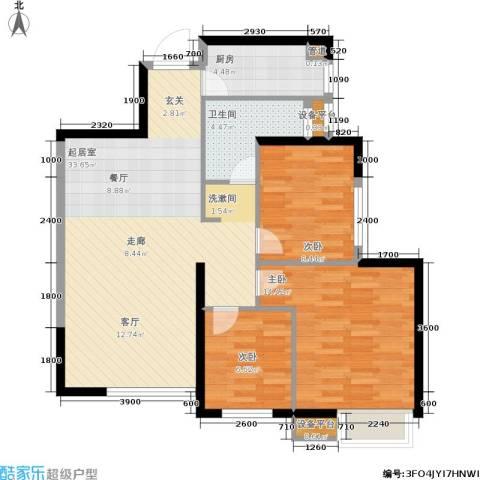 荔城公馆3室0厅1卫1厨107.00㎡户型图