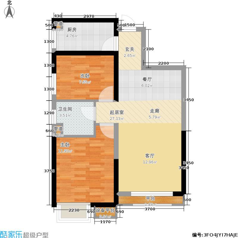 荔城公馆83.14㎡三期高层标准层N1户型