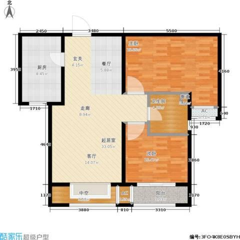 安联水晶坊2室0厅1卫1厨116.00㎡户型图
