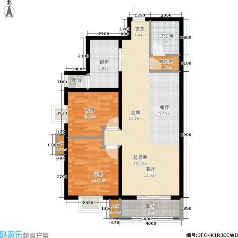星湖国际花园2室0厅1卫1厨108.00㎡户型图