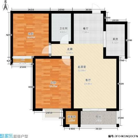 卓达上院2室0厅1卫1厨92.00㎡户型图