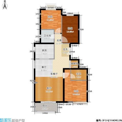 住总尚清湾2室1厅1卫1厨125.00㎡户型图