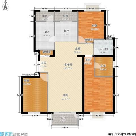 住总尚清湾2室1厅1卫1厨142.00㎡户型图