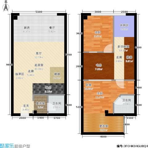 UP生活1室0厅2卫0厨94.56㎡户型图