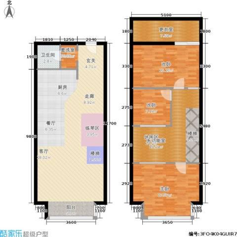 UP生活3室0厅1卫0厨123.83㎡户型图