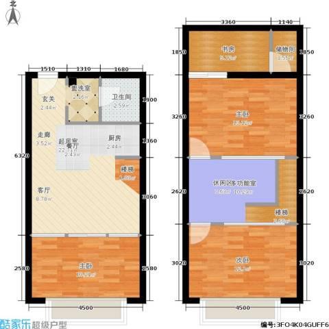 UP生活4室0厅1卫0厨77.68㎡户型图