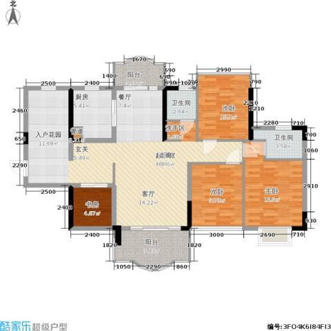 华轩桃花源4室0厅2卫1厨127.00㎡户型图