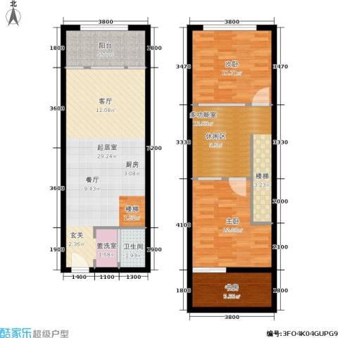 UP生活3室0厅1卫0厨79.12㎡户型图