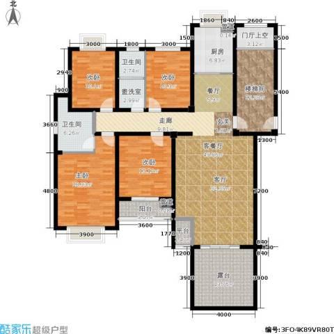 中建绿洲国际花园4室1厅2卫1厨160.00㎡户型图