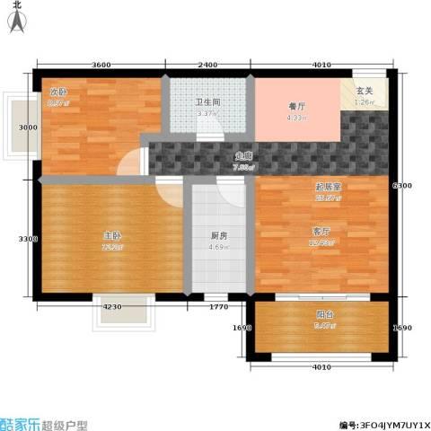 馨雅园2室0厅1卫1厨91.00㎡户型图