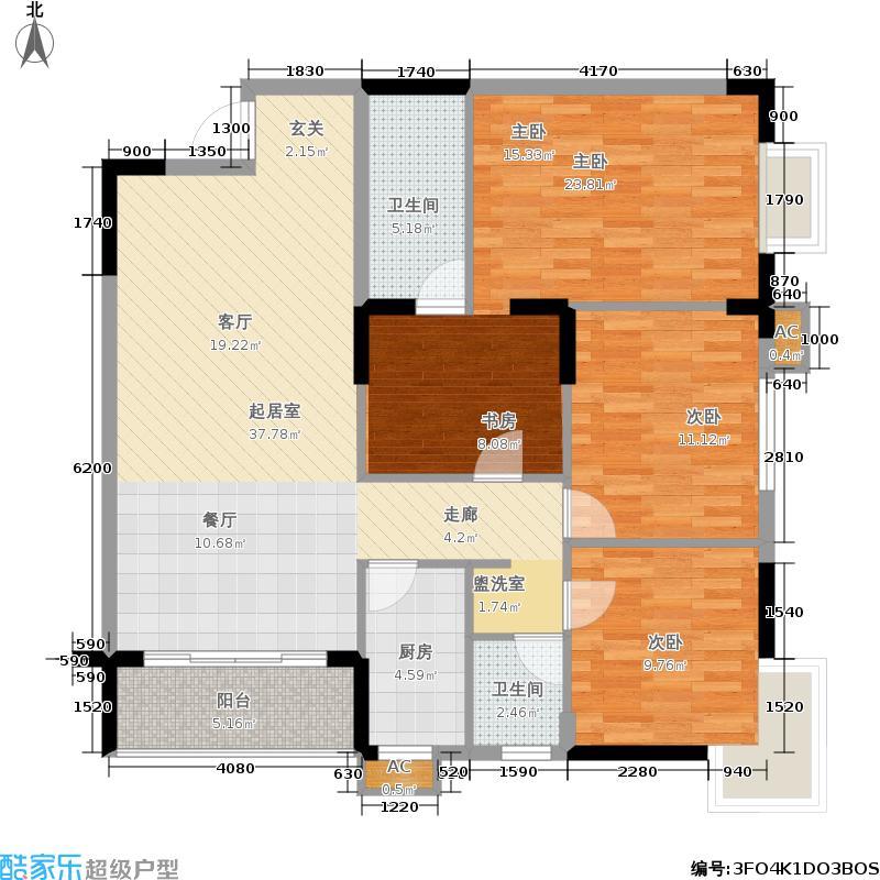锦绣湘城136.89㎡17户型