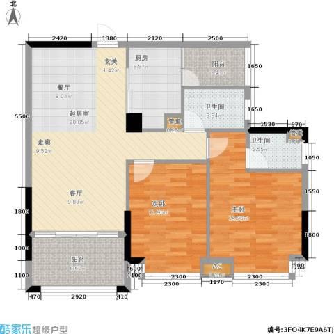 景源公园一号2室0厅2卫1厨111.00㎡户型图