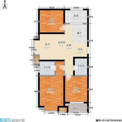 御龙湾3室0厅2卫1厨123.00㎡户型图