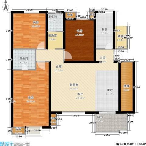 万润一品苑3室0厅2卫1厨135.00㎡户型图