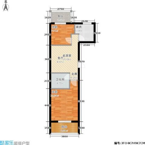 学子园2室0厅1卫1厨82.00㎡户型图