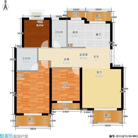 米兰风景3室0厅2卫0厨117.00㎡户型图