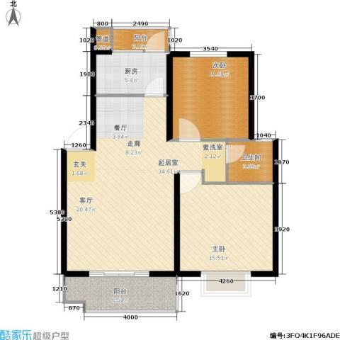 万润一品苑2室0厅1卫1厨89.00㎡户型图
