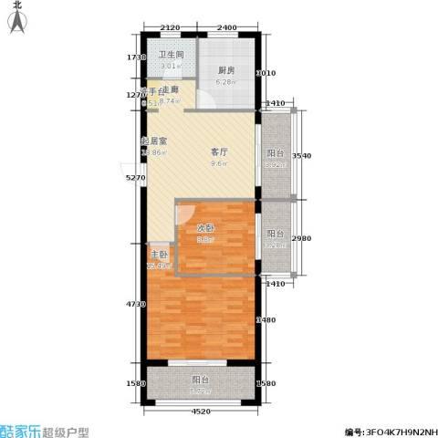 学子园2室0厅1卫1厨94.00㎡户型图