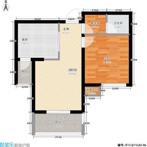 天房翠海红山1室0厅1卫1厨65.00㎡户型图