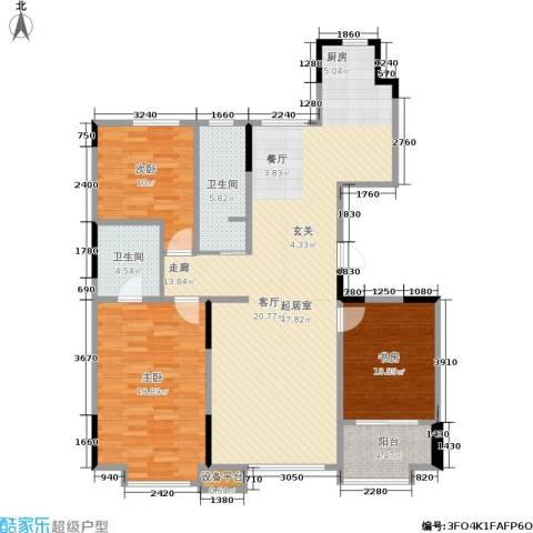 西湖一号3室0厅2卫0厨141.00㎡户型图