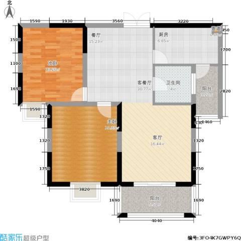 维多莉雅花苑2室1厅1卫1厨111.00㎡户型图