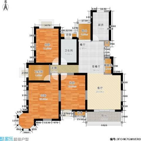 维多莉雅花苑3室1厅2卫1厨159.00㎡户型图