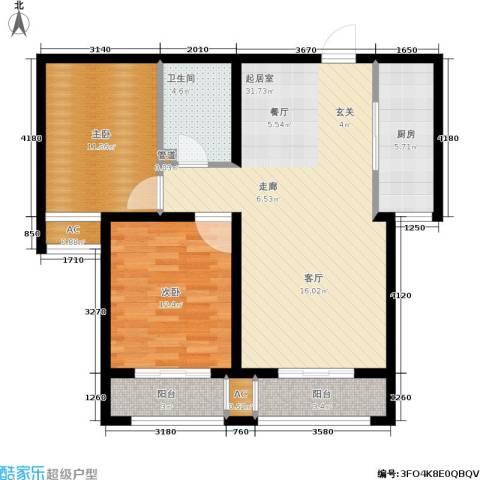 安联水晶坊2室0厅1卫1厨107.00㎡户型图