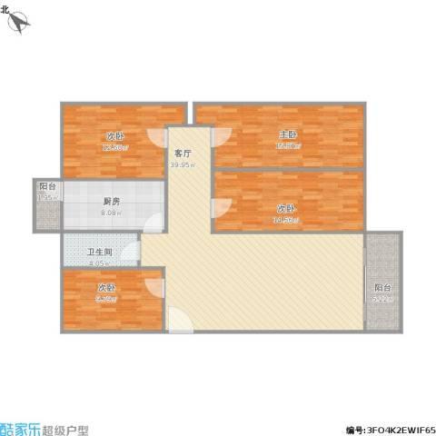 华富综合楼4室1厅1卫1厨150.00㎡户型图