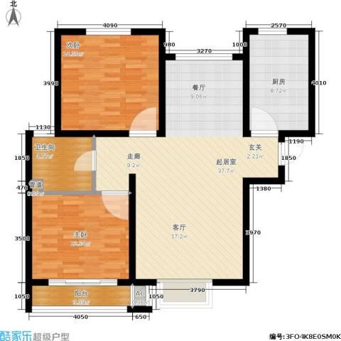 安联水晶坊2室0厅1卫1厨117.00㎡户型图