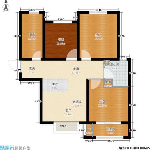 安联水晶坊3室0厅2卫1厨125.00㎡户型图