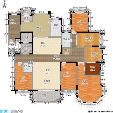 荣禾曲池东岸5室2厅3卫1厨270.00㎡户型图