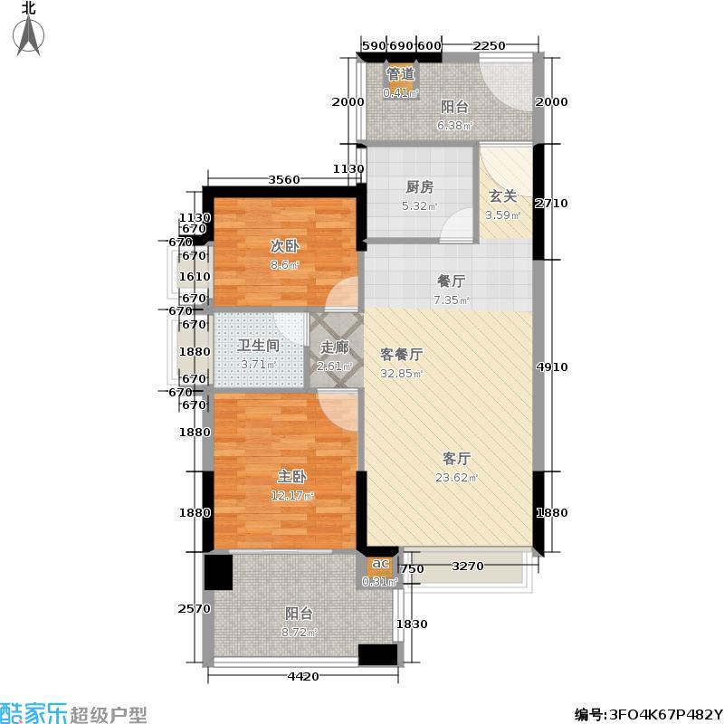 公园大地3号楼/78平米/共30套户型