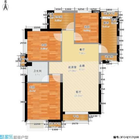 荔城公馆3室0厅2卫1厨103.00㎡户型图
