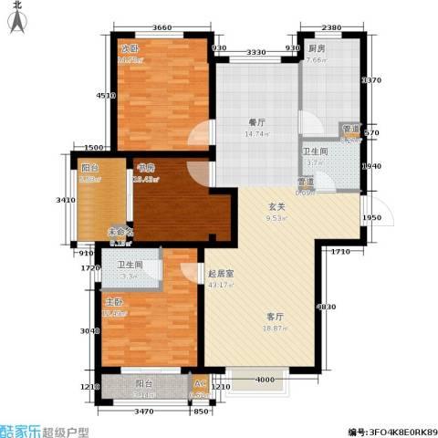 安联水晶坊3室0厅2卫1厨152.00㎡户型图