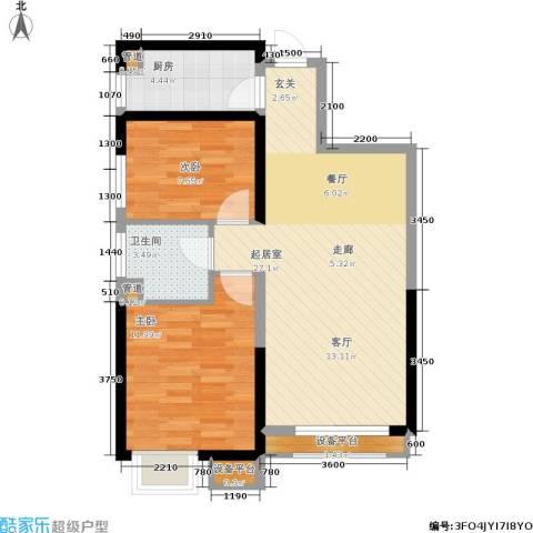荔城公馆2室0厅1卫1厨84.00㎡户型图