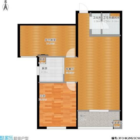太铁佳苑1室1厅2卫1厨100.00㎡户型图