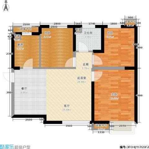 荔城公馆3室0厅1卫1厨99.00㎡户型图